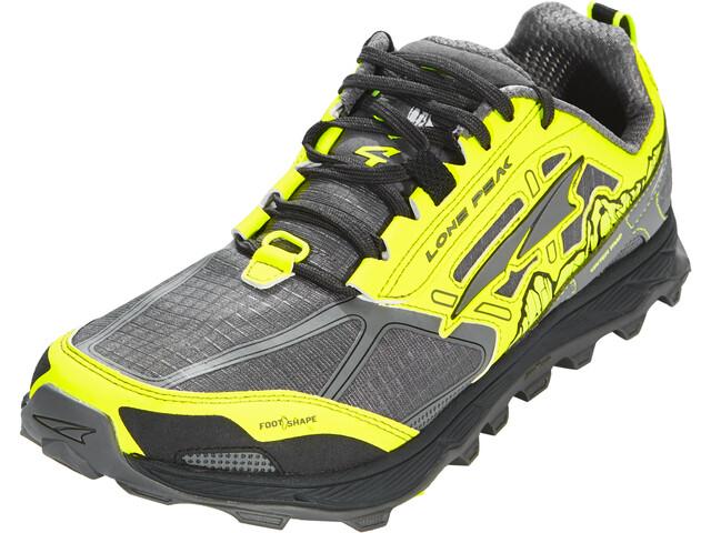 Altra Lone Peak 4 Zapatillas running Hombre, gray/yellow